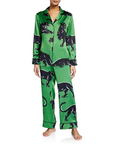 Lila Hades Printed Silk Pajama Set