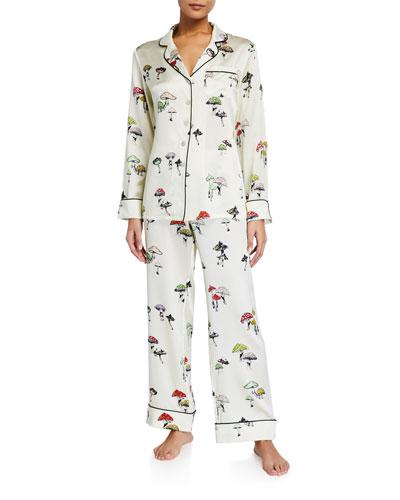 Lila Ingrid Printed Silk Pajama Set