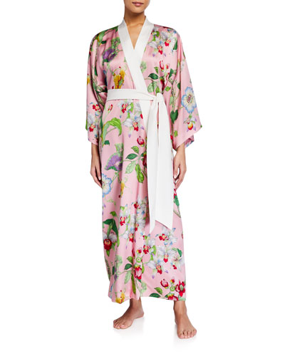 Queenie Appleyard Silk Kimono Robe