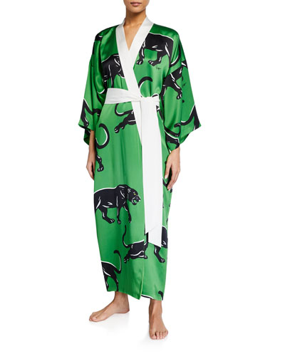 Queenie Hades Silk Kimono Robe