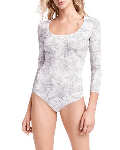 Antoinette 3/4-Sleeve String Bodysuit