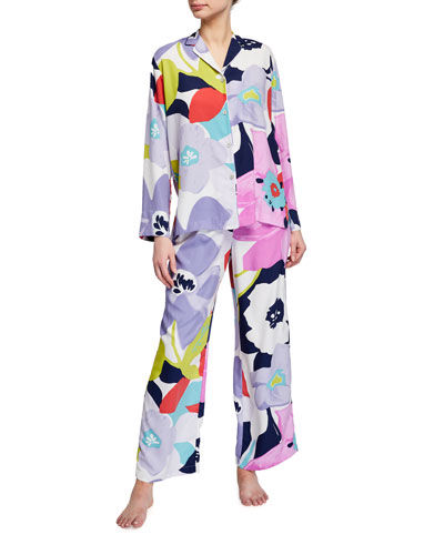 Bonita Floral Print Charmeuse Pajama Set