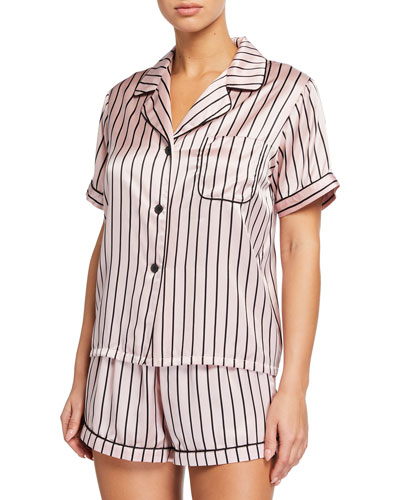 Katelyn Striped Pajama Top