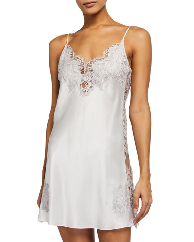 Side Lace Silk Chemise