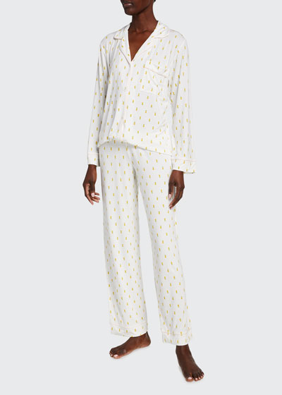 Giving Long-Sleeve Printed Pajama Set