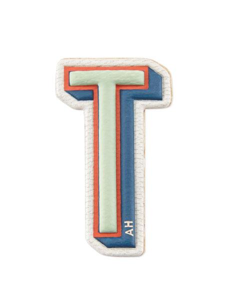 """T"" Leather Sticker for Handbag"