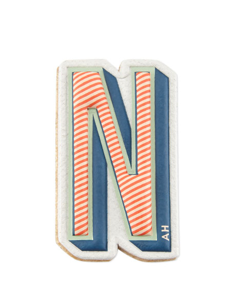 """N"" Leather Sticker for Handbag"