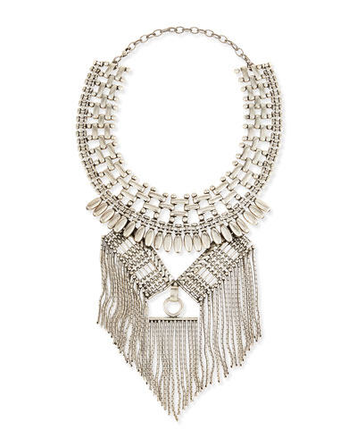 Geometric Chain Fringe Necklace