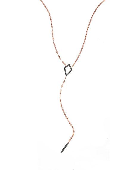 LANA Reckless Diamond Bar Lariat Necklace