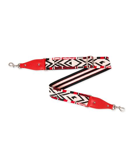 Rockstud Native Couture Guitar Strap for Handbag, Red/Multi