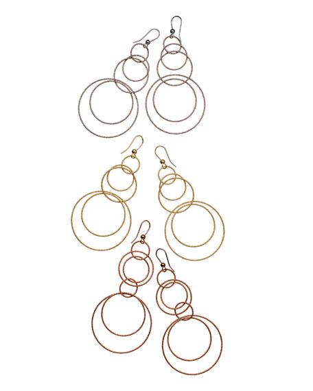Gitane 18k Yellow Gold Sparkly Hoop-Drop Earrings