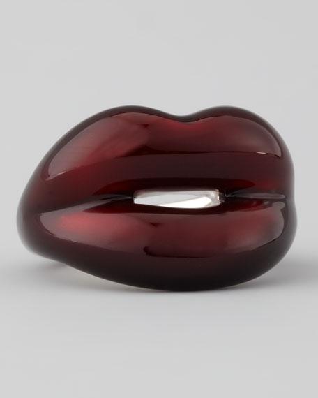 Black Cherry Hotlips Ring, Size 6.5 US/53 EU