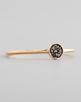 Sydney Evan 14k Rose Pave Black Diamond Disc Ring