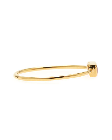 Ruby Baguette 18k Yellow Gold Stacking Ring