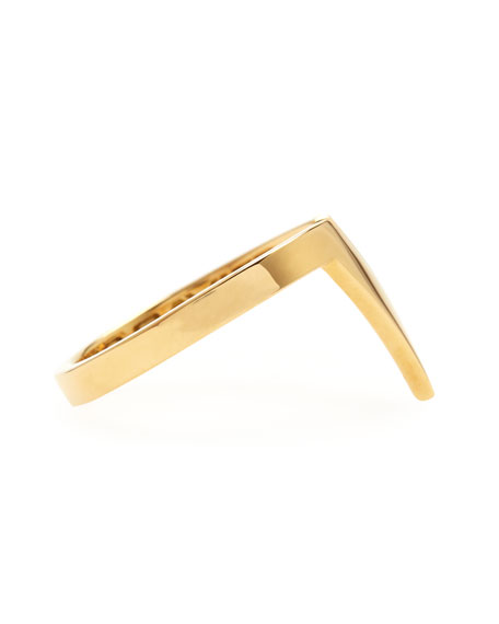 Small V 18k Yellow Gold Stacking Ring