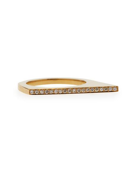 Angled Diamond Stacking Ring, 18k Yellow Gold