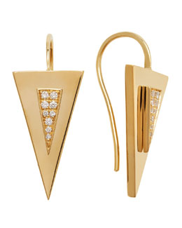 Janis Savitt Diamond-Center Arrow Earrings