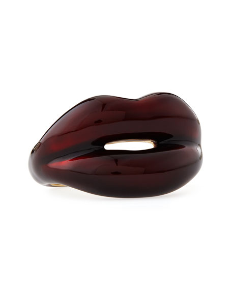 Black Cherry Hotlips Ring, Size 6.5 US/53 EU