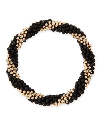 Audrey 14k Gold and Black Onyx Bead Bracelet