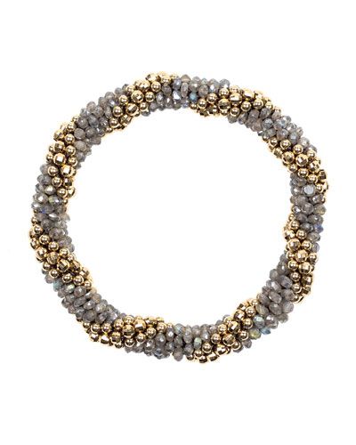 14k Gold and Labradorite Bead Bracelet