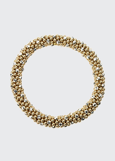 Beth 14-Karat Gold and Silver Bead Bracelet