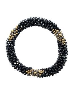 14k Gold, Spinel and Labradorite Bead Bracelet