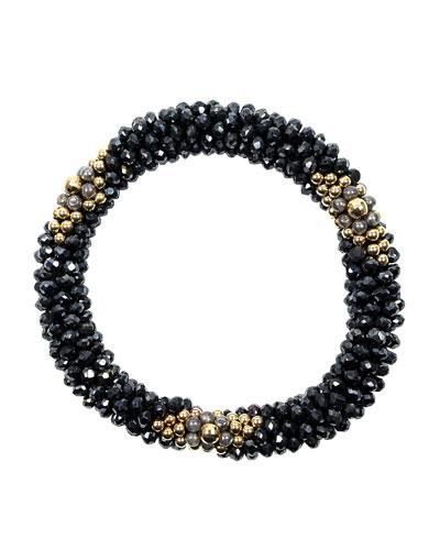 14k Gold  Spinel and Labradorite Bead Bracelet