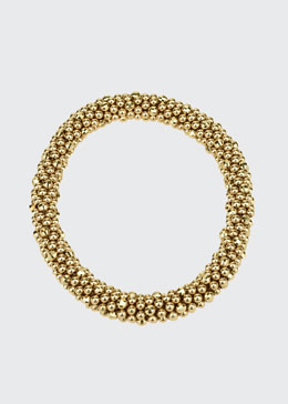 Irina 14k Gold Mirrored Bead Bracelet