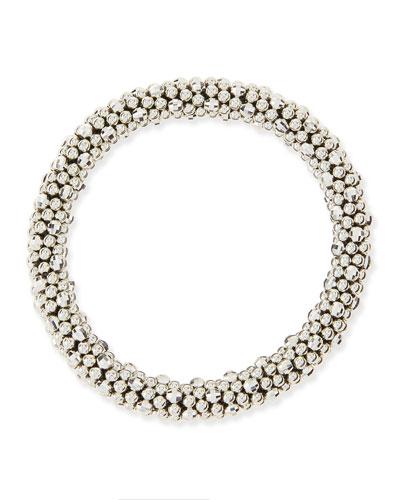 Irina Silver Mirrored Bead Bracelet