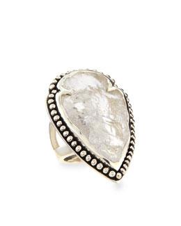 Pamela Love Arrowhead Ring with Clear Quartz
