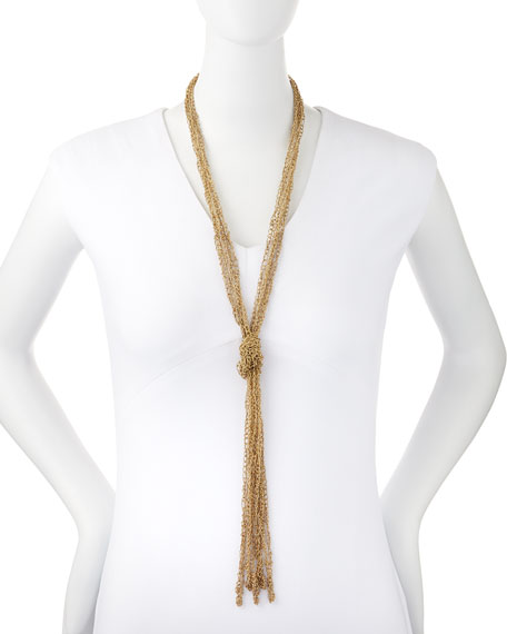 Penelope Five-Strand Crochet Tassel Necklace