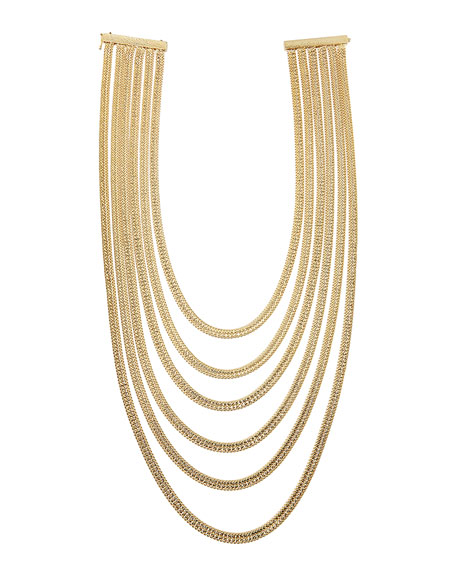 Bianca 24K Gold Dipped Tiered Necklace