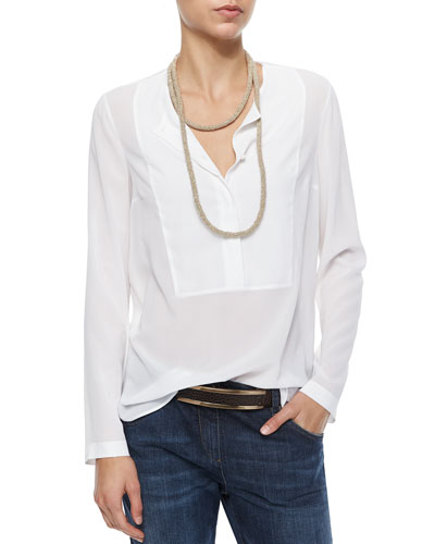 Wrap-Around Monili Cashmere Necklace