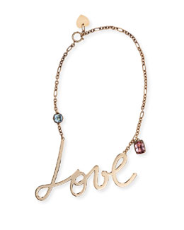 Love & Crystal Pendant Necklace
