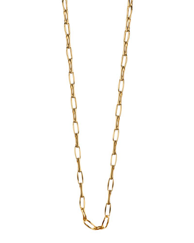 "18K Yellow Gold Belcher Chain Necklace, 30""L"