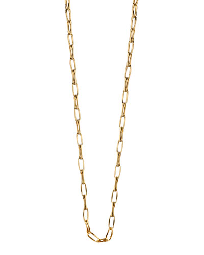 18K Yellow Gold Belcher Chain Necklace, 17