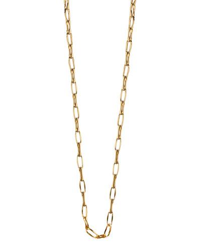 18K Yellow Gold Belcher Chain Necklace, 17