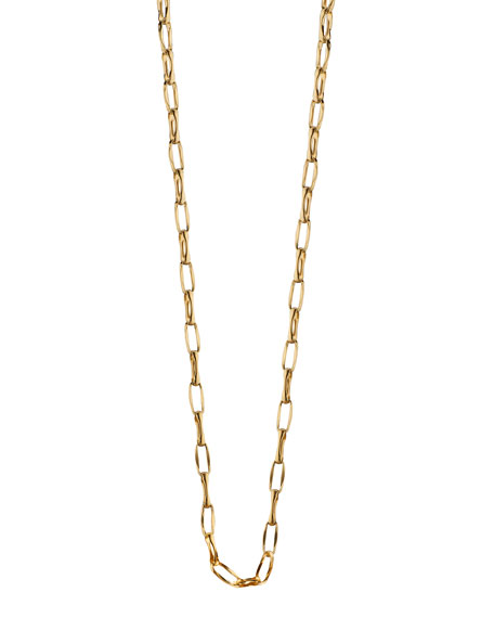 """18K Yellow Gold Belcher Chain Necklace, 17""""L"""