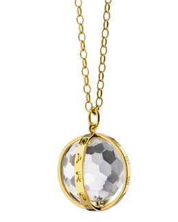 18K Carpe Diem Rock Crystal Charm Necklace