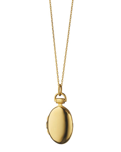 18K Gold Petite Anna Locket Necklace