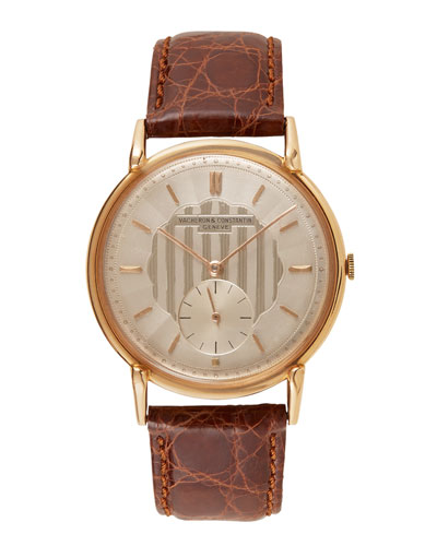 Vacheron Constantin 18k Rose Gold Round Dress Watch, c. 1950s