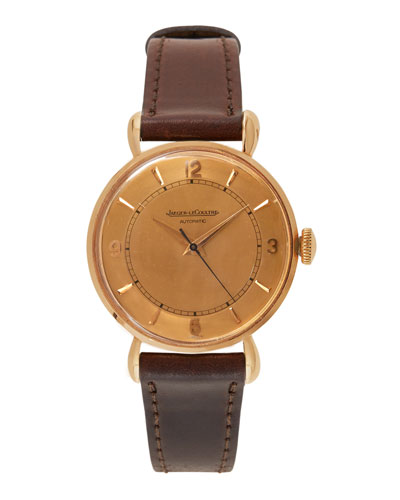 Jaeger-LeCoultre 18k Rose Gold Round Dress Watch, c. 1950s