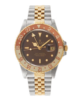 Rolex Stainless Steel/18k Yellow Gold GMT-Master Watch With Bracelet, c. 1985
