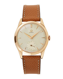 Omega 18k Rose Gold Round Dress Watch, c. 1950s