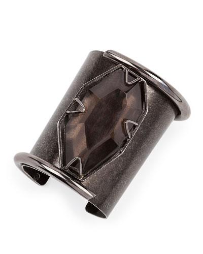 Vertical Quartz Cuff Bracelet