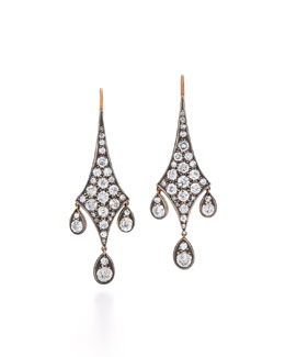 Old European-Cut Diamond Chandelier Earrings