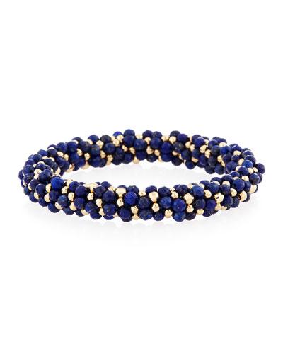 Lois 14K Gold & Lapis Bracelet