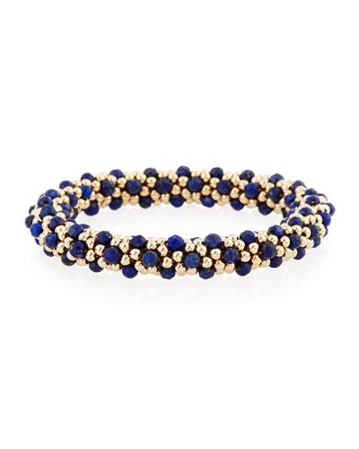Lulu 14K Gold & Lapis Bracelet