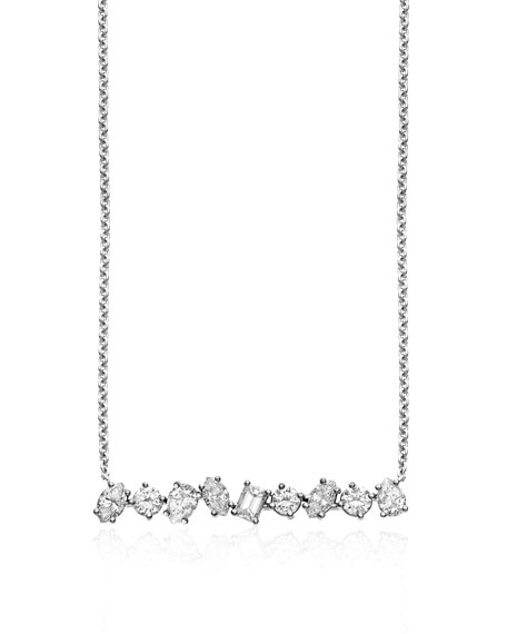 Kimberly McDonald 18k Yellow Gold Diamond Bar Necklace 2Diffkzv18