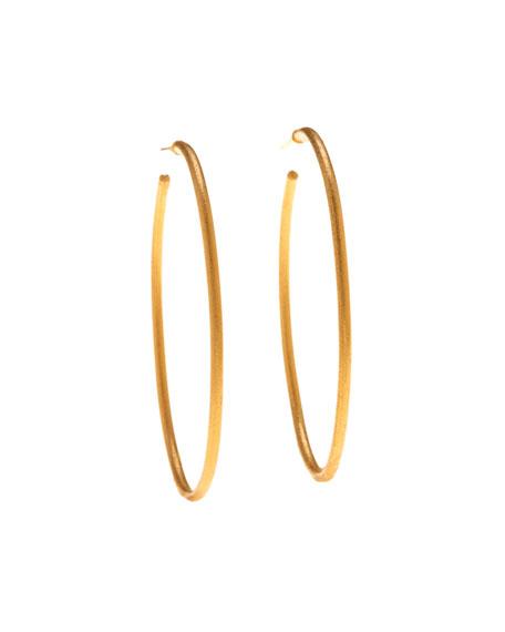 Jane 24K Gold Hoop Earrings